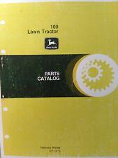 John Deere 100 Lawn Tractor Parts Manual Pc-1472 1975 - 1977 8 h.p C100D - C100F