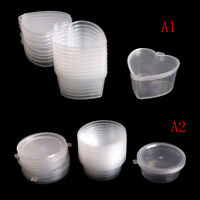 10 teile / los Kunststoff Farbe Plastilin Klar Container Aufbewahrungsboxen SWQ