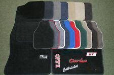 Mustang Carpet Overmats Bespoke with Colour Binding & Stitching Front PAIR