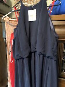 wayne cooper 16 blue Formal Dress high neck