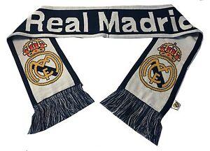 real madrid fc scarf soccer winter new season reversible football licensed white