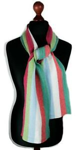 100% Knitted or Felted Wool Stripe Scarf - Scarves Made in Scotland in 7 colours
