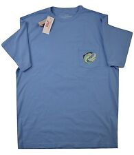 Vineyard Vines Mens SS Graphic Packet Tee Rainbow Trout Ocean Breeze Small (S)