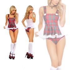 Costume vestito carnevale donna SCOLARETTA completo intimo lingerie