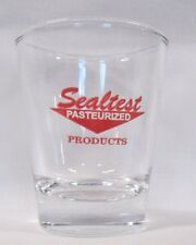 Sealtest Pasteurized Products Logo on Clear Shot Glass
