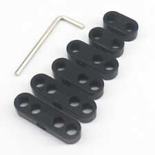 7mm 8mm Black Plastic Spark Plug Wire Separators Dividers Looms Chevy Ford 9723B