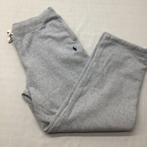 Polo Ralph Lauren Men's Fleeced Jogger Sweatpants Relaxed Fit XL Drawstring Gray