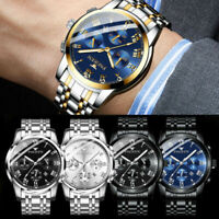 2019 Stainless Steel Luxury Men Fashion Military Army Analog Quartz Wrist Watch