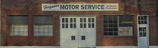 #264 N scale background building flat FERGUSON MOTOR SERVICE  *FREE SHIPPING*