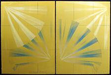 "Scott Sandell ""Oceanweather #24"" Hand Signed Original Art Monoprint, diptych 2pc"