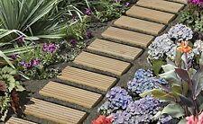 Rollweg aus Lärchenholz B35 x L250 cm, Gartentritte, Holzbrett, Tritte, Fliesen