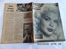 RADIO TELEVISION CINEMA N°405 20/10/1957 JANE MANSFIELD JEAN GABIN   G86