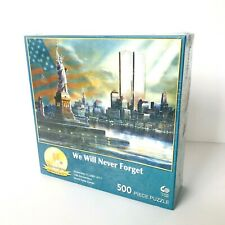 WE WILL NEVER FORGET - World Trade Center 10th Anniv - 500 pc Jigsaw Puzzle NEW