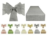 Linen Burlap Hessian Chair Sashes and Matching Table Runners | 7 colours