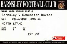 Ticket - Barnsley v Doncaster Rovers 04.10.08