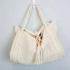 WITCHERY |  Womens Beige Braided Large Bag / Handbag