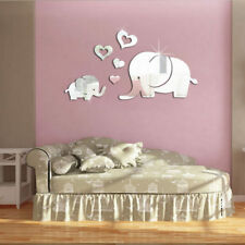 Elephant Removable Mirror Sticker Art Design Decal Wall Decals Kids Home Decor