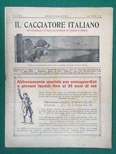 IL CACCIATORE ITALIANO n.21 (1934) Rivista/Magazine caccia e pesca ORIGINALE
