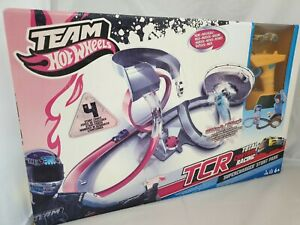 Hot Wheels TCR Total Control Racing Spielset: Supercharged Stunt Park Rennbahn