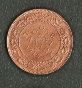 CANADA 1 CENTS 1918