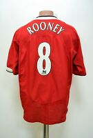 MANCHESTER UNITED 2004/2006 HOME FOOTBALL SHIRT #8 ROONEY NIKE SIZE XL ADULT