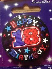 BIRTHDAY BADGE AGE 18  BRAND NEW VARIOUS DESIGNS BADGES