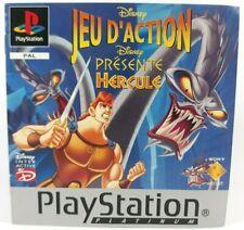 Disney Hercule Sony Playstation PS1 Notice Seule PAL Fr Platinum Instructions