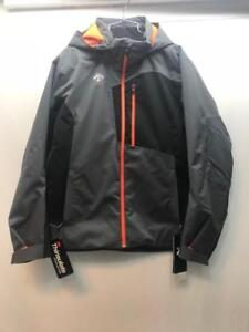 Descente Mens Rage Insulated Snow Ski Jacket Grey Orange Size Medium NEW