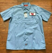 RC COLA Royal Crown Men Employee Short Sleeve Button Up Shirt L Dickies NEW TAG