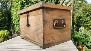 Nice Old Dovetailed Wooden Military Communications Device Box Chest Toolbox