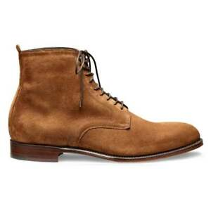 Men Handmade Camel Suede Two Tone Toe Caped Jodhpur Lace Up Derby Ankle Boots