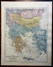 Ottoman Empire Greece Bulgaria Romania Serbia Montenegro 1885 Stanford map