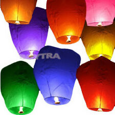 Chinese Sky Lanterns Party Wedding Fly  Lamp Fire Candle Paper ESUS