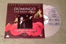 PLACIDO DOMINGO - Live From Miami Gala Performances  Laser Disc, LD