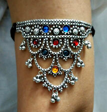 Traditional Indian Jewelry Chain Gypsy Kuchi Tribal Armlet BellyDance Bracelet
