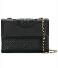 TORY BURCH Large Fleming Convertible Shoulder Bag NWT Black sales hot