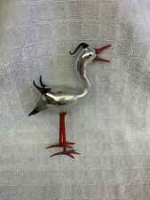 Vintage 1920's Bimini German Blown Art Glass HERON CRANE STORK 6""