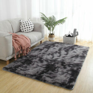 Fluffy Floor Mat Anti-Skid Shaggy Area Rugs Dining Living Room Carpet Home Decor