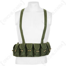 Original Surplus Vietnamese Army Military 10 Pocket Bandolier Webbing Canvas Rig