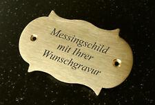 MESSINGSCHILD Türschid - rustikal 85x50mm - mit Ihrer WUNSCHGRAVUR
