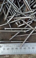 "2 3/4"" X 8 Steel Wood Screws. C.S,Slotted.Old Stock.Qty 50"