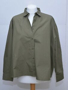 Masai Green Khaki Oversized Shirt Size M BNWOT Cotton