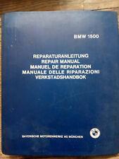 BMW 1500 Original Shop Manual,Manuel de Reparation,Werkstatthandbuch1963 english