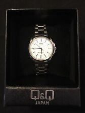 QQ  Quartz Women's Fashion Silver Tone Wrist Watch  New In Box!