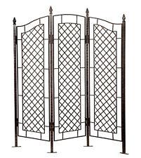 H Potter Gar573 Trellis Large Three Panel Garden Screen Wrought Iron Fence Yard