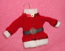 Red/White Santa Style Christmas Holiday Ornament - Great Shape
