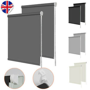 BLACKOUT ROLLER BLINDS - THERMAL EASY FIT TRIMMABLE -UP TO 180CM WIDTH UK SELLER