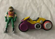 Bandai Teen Titans Robin Motorcycle Helmet Figure w/ T-Cycle