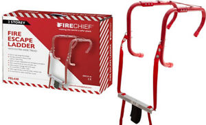 EMERGENCY FIRE ESCAPE LADDERS 2 STOREY HOME WINDOW FIRE SAFETY PORTABLE EXIT