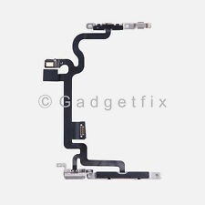 New Power Volume Mute Switch Button Flex Cable Replacement iPhone 7 w/ Bracket
